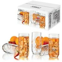 12-piece Drinking Glasses Set 16 Oz Durable Clear Water Juice Glass Beverage