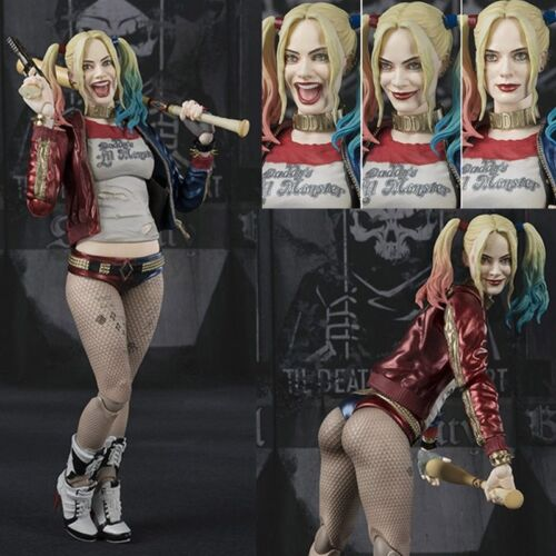 3 Face 3 Head SHFiguarts SHF DC Suicide Squad Harley Quinn Action Figures Toys