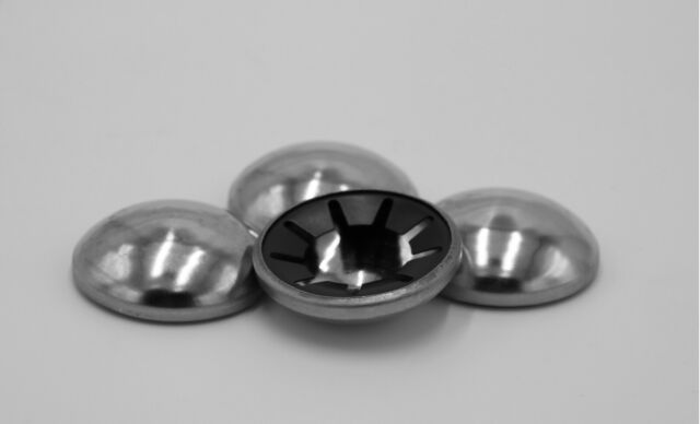 10 Stück Starlock 5 mm Sicherungsscheibe Achs-Klemmring mit Kappe aus Edelstahl