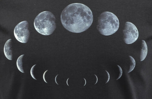 WOMENS ASTROLOGY DRESS MOON PHASES CYCLE WICCA WICCAN WITCH PAGAN GOTH S-XL