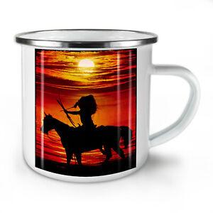 Horse Sea Sunset NEW Enamel Tea Mug 10 oz | Wellcoda