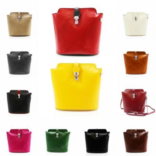 Ladies Women/'s VERA PELLE Stamp Genuine Leather Bag Crossbody Bag Shoulder Bag