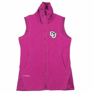 Columbia-Women-039-s-Pink-Give-and-Go-Full-Zip-CU-Vest-Jacket-Size-Small