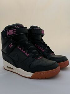 Nike-Air-Revolution-Sky-Hi-Women-Black-Pink-599410-001-Sz-8-5-Shoes-Wedge