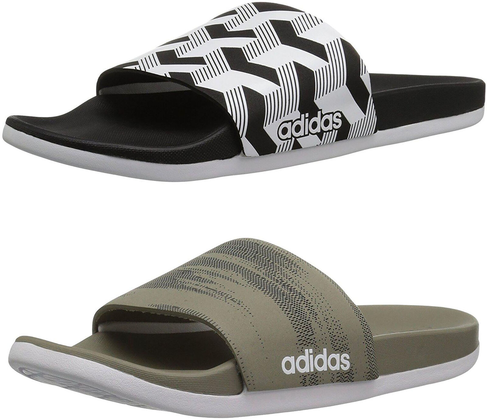 761daeb1e adidas Men s Adilette Cloudfoam Plus Link Slide Sandals