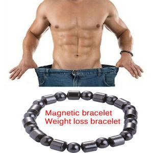 Magnetic-Therapy-Armband-Perlen-Haematit-Stein-Gesundheitswesen-Gewichtsverlus