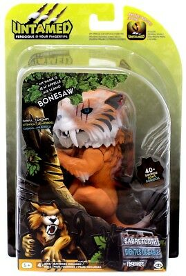 Electronic, Battery & Wind-up Electronic & Interactive Objective Fingerlings Untamed Sabretooth Bonesaw Figure To Help Digest Greasy Food