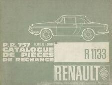 RENAULT CARAVELLE FLORIDE 5CV CATALOGUE DE PIEZAS PIECES RECHANGE WORKSHOP PARTS