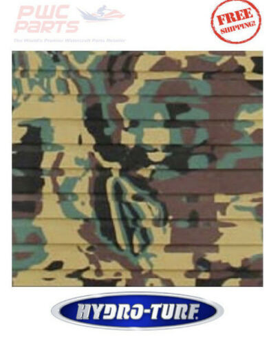 """HYDRO TURF Green CAMO Traction Mat Roll Cut Groove 40/"""" x 62/"""" Carpet 3M Adhesive"""