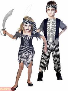 Ragazzi Zombie Costume Da Pirata Bambini Fantasma Halloween Fancy Dress Per Bambini GRATIS P/&P