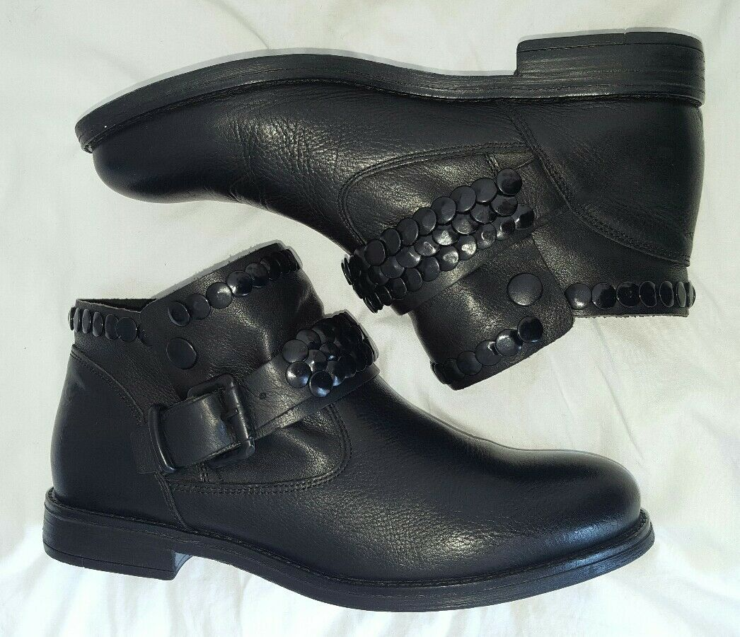 Metisse schwarz Stiefel schwarz Metisse mit Nieten Gr.39, NEU 8f9019