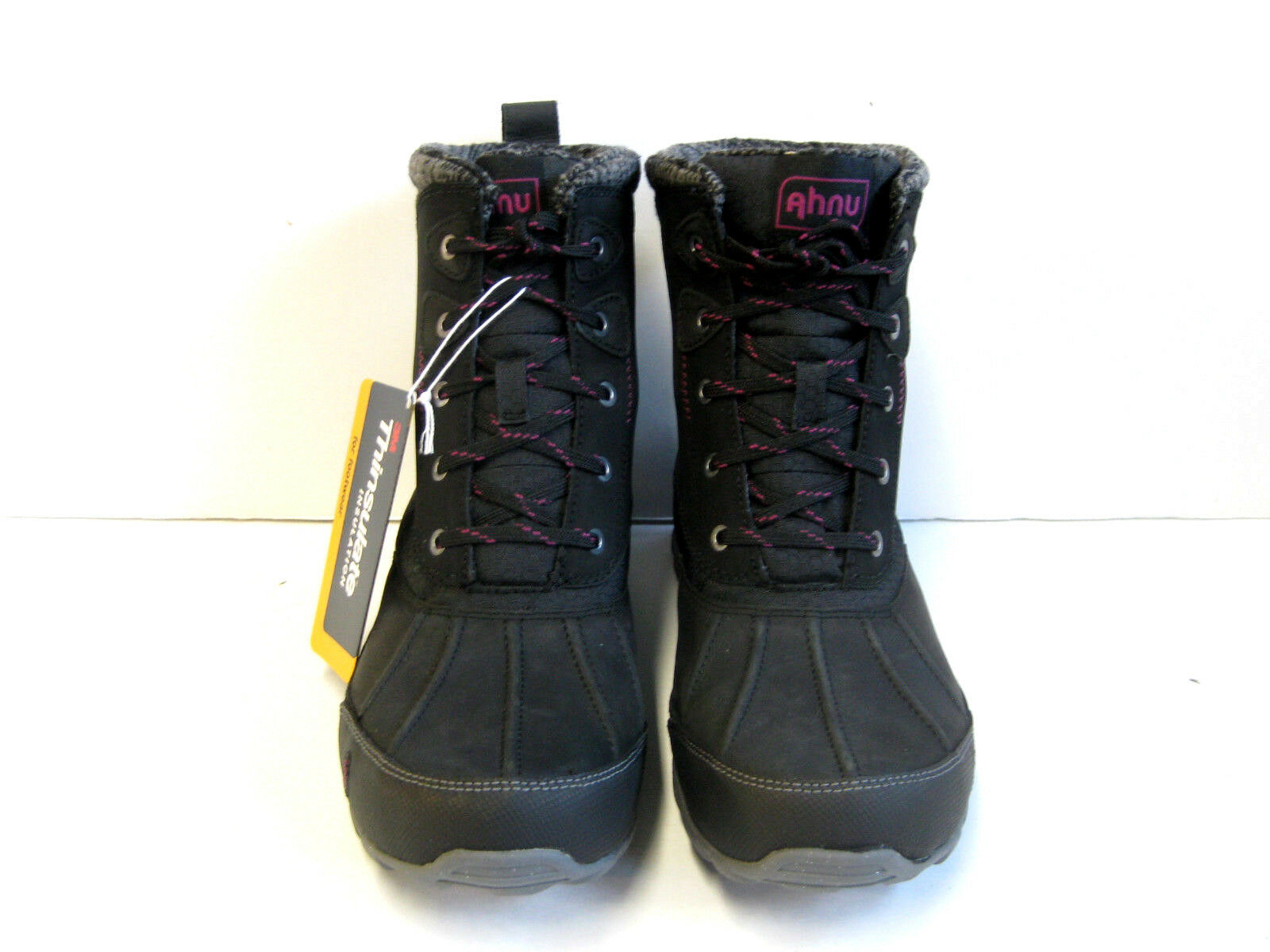 AHNU SUGAR PEAK INSULATED WP WOMEN HIKING BOOTS BLACK US 7 ///JP24