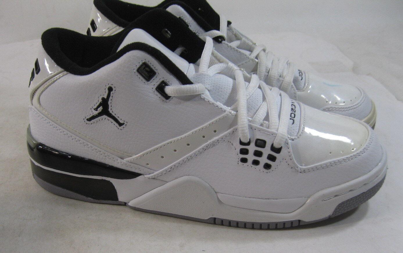 70cf5fd48031d7 Air Jordan Flight 23 317821-114 White   Black Metallic Silver Size 5.5y for  sale online