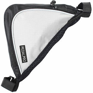 PEDALPRO-BICYCLE-BIKE-CYCLE-FRAME-DOUBLE-POCKET-REFLECTIVE-TRIANGLE-CORNER-BAG