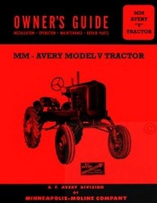 Avery A Tractor Owner Operators Manual Parts Catalog