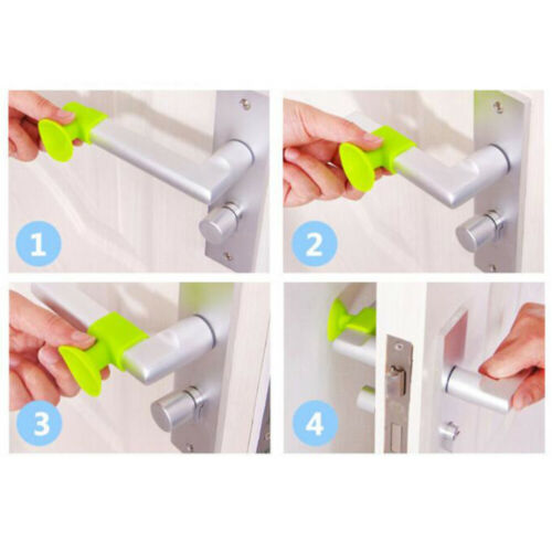 25Pcs Silicone Anti-collision Door Stoppers Punch Free Self-adhesive Mute Door