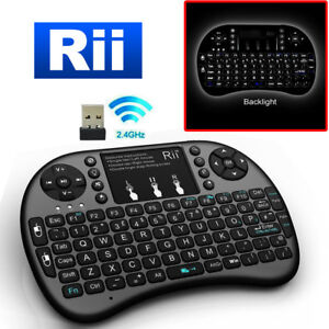 582d6639294 Image is loading Rii-i8-Wireless-Mini-Keyboard-Mouse-Touchpad-Backlight-