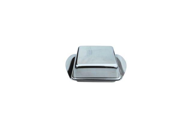 Küchenprofi Kühlschrankbutterdose Butterdose Butterschale Edelstahl 250g