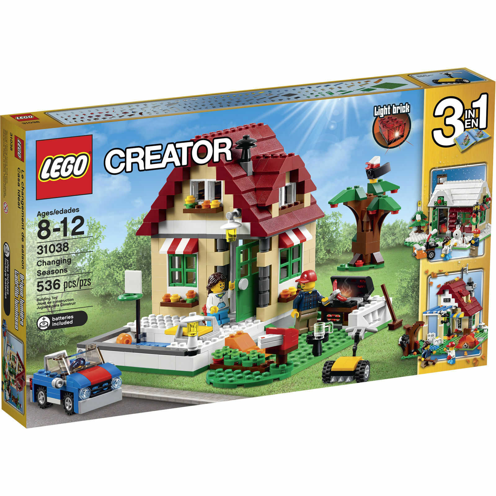 LEGO Creator - Changing Seasons  31038 Free Shipping Nuovo