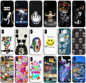 CUSTODIA-COVER-MORBIDA-IN-TPU-SILICONE-PER-APPLE-IPHONE-X-FANTASIA-N