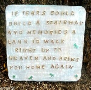 If-Tears-MOLD-Memorial-plaque-plastic-Stairway-plaster-concrete-mould