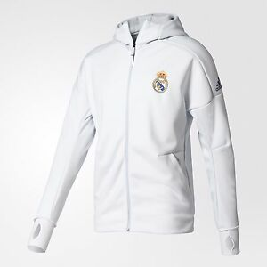 Image is loading ADIDAS-REAL-MADRID-ANTHEM-Z-N-E-HOODIE-ZNE-White a1a140960c2c9