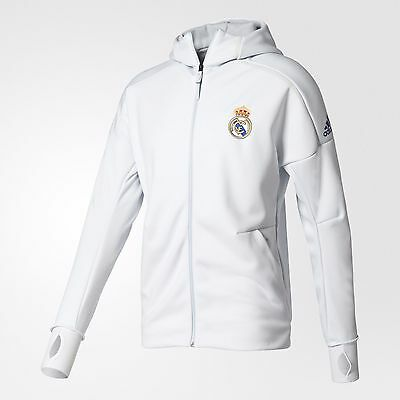 more photos the best attitude new style ADIDAS REAL MADRID ANTHEM Z.N.E. HOODIE ZNE White.   eBay