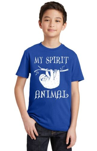 My Spirit Animal Funny Sloth Youth T-shirt Casual Tee