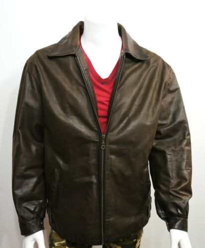 Country Field Brown Trucker Leather Men's Jackets