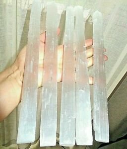 1-Selenite-Crystal-Stick-9-034-11-034-Long-Large-Raw-Rough-Wand-Clearing-Energy