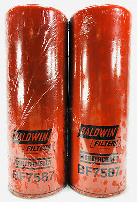 BF7634 Baldwin Fuel Filter Pack of 2 Spin-On//High-Efficiency