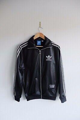 Rare Adidas Chile 62' Tracksuit jacket S BlackSilver trefoil wetlook Glossy | eBay