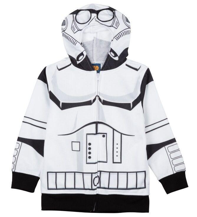 Star Wars STORMTROOPER Jacke NeW Boys 8 Zip-Up Storm Trooper Kostüm Hoodie NWT