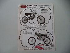 advertising Pubblicità 1978 MOTO BIMOTOR MOD. 33 CROSS 50/AIM MOD. 8 75 ENDURO