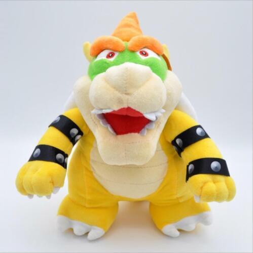 "Super Mario Bros Dark Bowser Koopa Jr Morton Stuffed Figure Plush Doll Toys 10/"""
