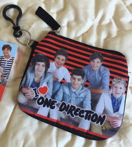 1D One Direction small wallet coin bag with clipper NEW