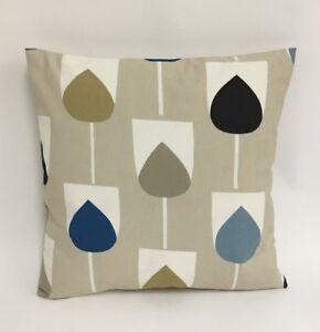 Details About Scion Sula Indigo Shire Raffia 100 Cotton Cushion Cover