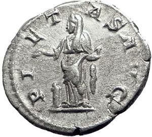 JULIA-MAESA-218AD-Rome-Ancient-Authentic-Silver-Roman-Coin-PIETAS-Duty-i64714