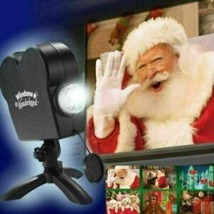 Proiettore Luci Natalizie Per Esterno Ebay.Proiettore Per Finestra Natale Halloween 12 Video Con Telo Decorazioni Natalizie Ebay