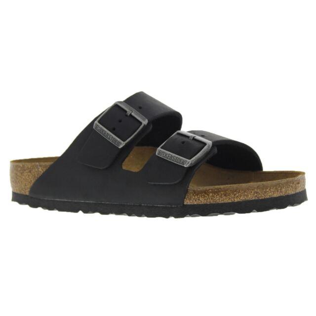 2b82bfe73b82 Birkenstock Arizona Oiled Leather Black Sandals 552111 Womens 10 ...