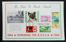 First Day of Issue FDC Honoring the ASPCA Kind Animals NY USA Ersttag (H-7342+