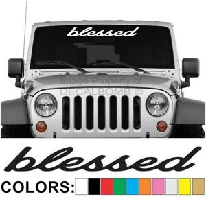 Blessed-Windshield-Decal-Sticker-Style-2-Vinyl-Import-Diesel-Turbo-Low-Drift