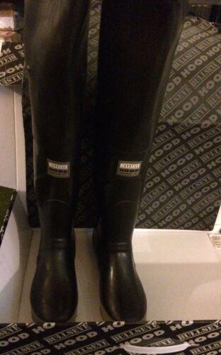Bullseye Hood  Black Rubber Fishing Waders Long Boots Extra Tall 7  Watstiefel