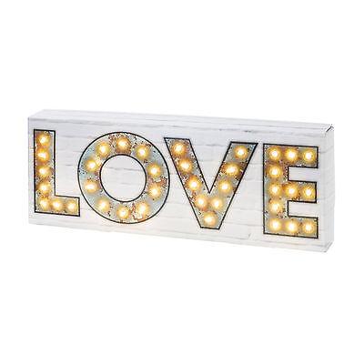 Light Up LOVE Party Sign 40 LED Lights Wedding Engagement Valentines Decoration