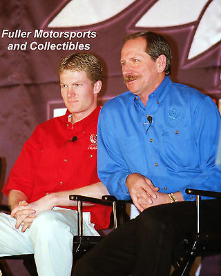 DALE EARNHARDT SR & DALE JR 1999 COUNTDOWN TO EDAY NASCAR WINSTON CUP PHOTO