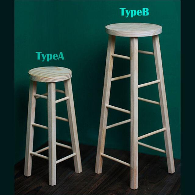 1/4 1/6 BJD Chair MSD YOSD Stool DOD Dollfie SOOM DREAM AOD Wooden Stool #StyleA