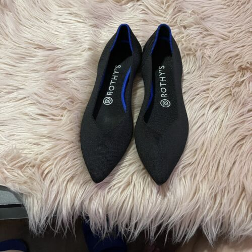 Rothys Size 8 Solid Black Pointed Womans Shors
