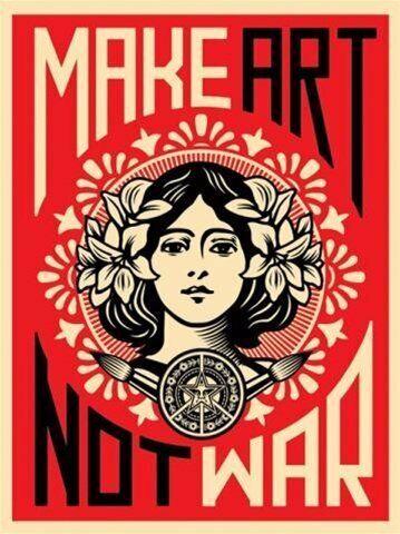 MAKE ART NOT WAR New Print Poster 12x18 24x36 27x40 P-245