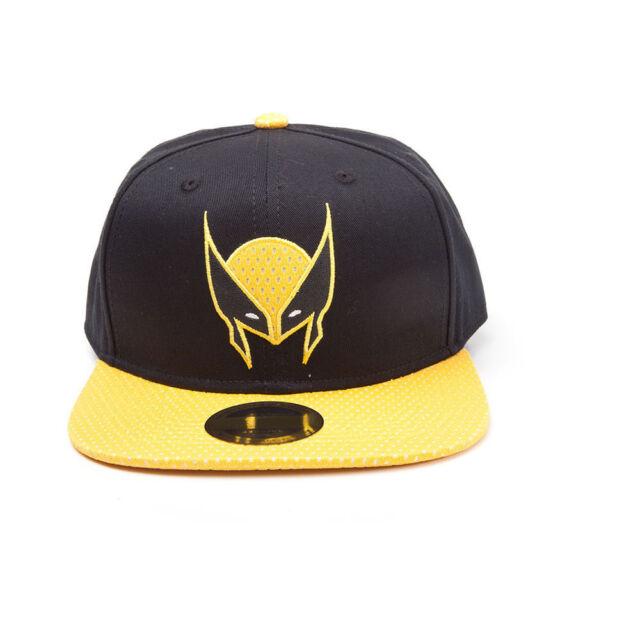39a2ed3ee23 MARVEL COMICS X-Men Wolverine Mask Snapback Baseball Cap One Size Black  Yellow
