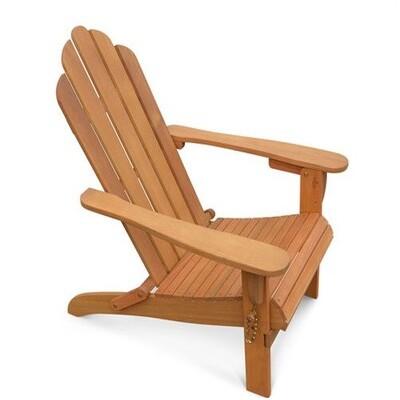 Fauteuil de jardin en bois Adirondack Salamanca eucalyptus FSC, chaise de terras